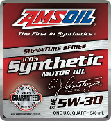 AMSOIL Sig 5W-30 synthetic motor oil