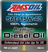 AMSOIL Diesel 15w-40 synthetic motor oil