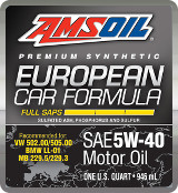 AMSOIL Euro 5W-40 synthetic motor oil